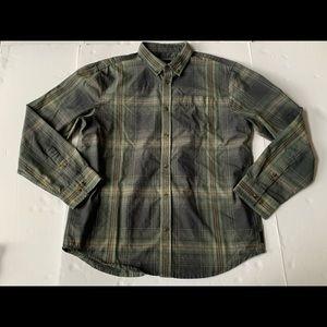 Prana Button Down Shirt Multi Color Plaid